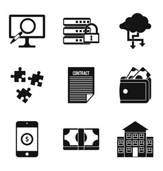 Computer expert icons set simple style vector