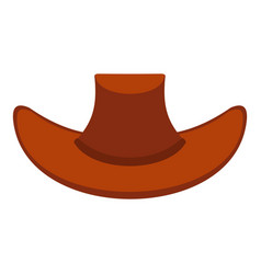 Cowboy hat icon isolated vector