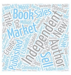 Create your own market for independent books text vector