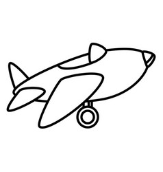 Cute airplane toy icon vector
