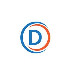 D company logo template design vector
