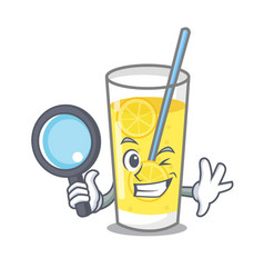 detective lemonade character cartoon style vector image