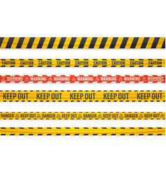 different warning tapes isolated on white vector image