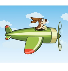 Dog Flying Plane vector image
