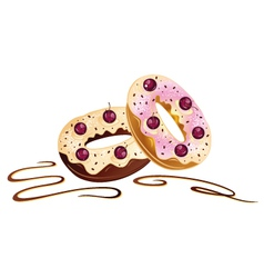 Donuts cakes chocolate vector