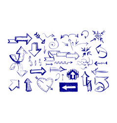 drawn arrows on white background vector image