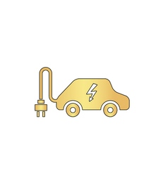 Electric car computer symbol vector