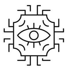 Eye tribal alchemy icon outline style vector