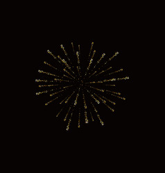 fireworks gold isolated beautiful golden vector image