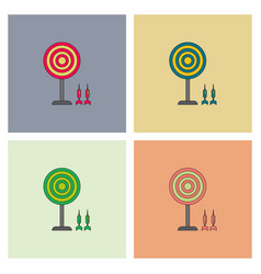 Flat target and darts collection eps 10 vector