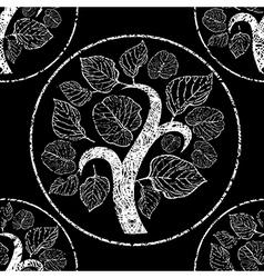 floral back logo 0001 grunge seamless vector image