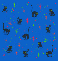funny cats pattern vector image