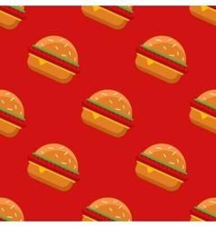 geometric flat burgers seamless pattern vector image