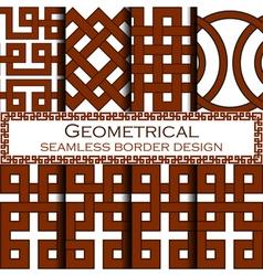 Geometrical borders set vector image