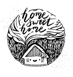 hand drawn cartoon house vector image