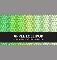 Hexagon pattern set apple lollipop seamless vector