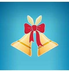 Holiday Jingle Bells Merry Christmas vector image