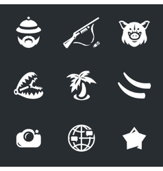 Icons Set of Safari vector