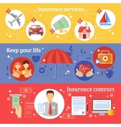 Insurance Banners Set vector