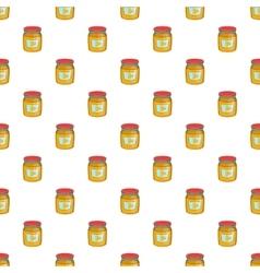 Jar of honey pattern cartoon style vector image