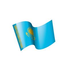 kazakhstan flag on a white vector image