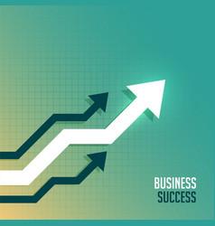 leading business arrow toward upward side vector image