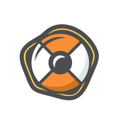lifebuoy orange color icon cartoon vector image