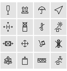 line marking of cargo icon set vector image
