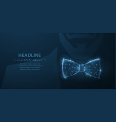 man tie abstract design male suit cloth vector image