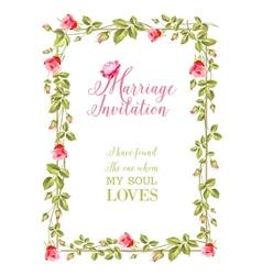 Marriage invitation vector