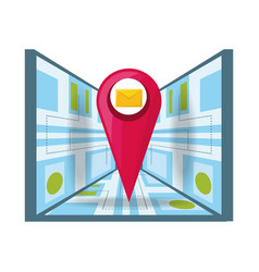 Message service with map and ubication search vector