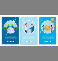 Mobile page set for business improve and develop vector