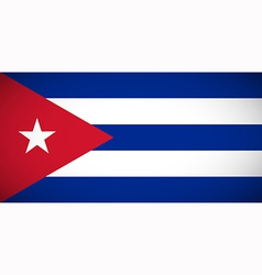 National flag of Cuba vector