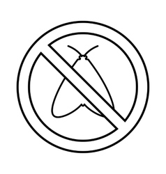No moth sign icon outline style vector image