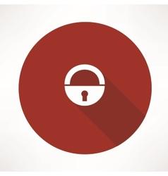 Old lock icon vector