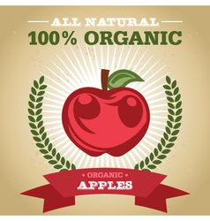 Organic Apples vector image