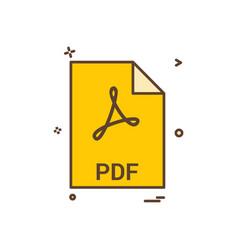 Pdf file file extension file format icon design vector