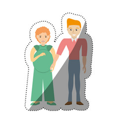 people couple pregnant family image vector image