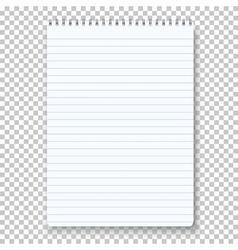 Photorealistic Notepad Isolated on vector image