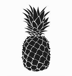 pineapple black and white print vector image