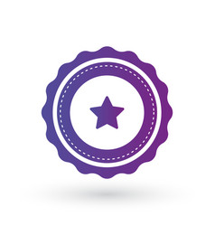 purple gradient smooth edged burst with star vector image