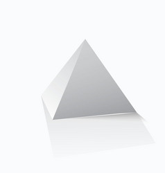 Pyramid icon vector