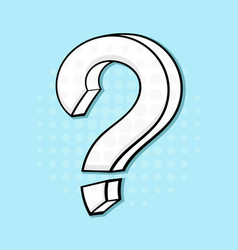question mark hand drawn sketch on blue vector image