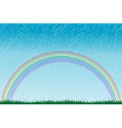 Rain and rainbow vector