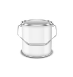 Realistic 3d mockup paint can isolated on vector