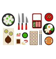 Restaurant asian cuisine flat icon vector image