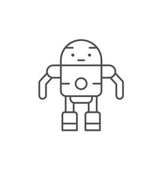 robot line icon vector image