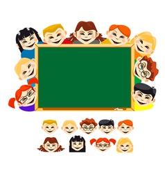 Smiling children vector