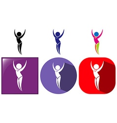 Sport icon design for floor exercise vector image