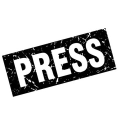 Square grunge black press stamp vector